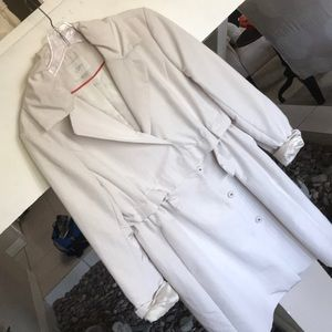 Loft Cream Trench Coat/Jacket - M